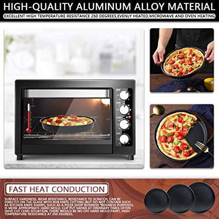 1Pc 9 Pulgadas Redondo//Rectangular Pizza Pan Pastel Hornear Molde Bandeja Antiadherente De Acero Al Carbono Con Agujeros Para Hornear Molde Herramienta De Cocina,Rect/ángulo