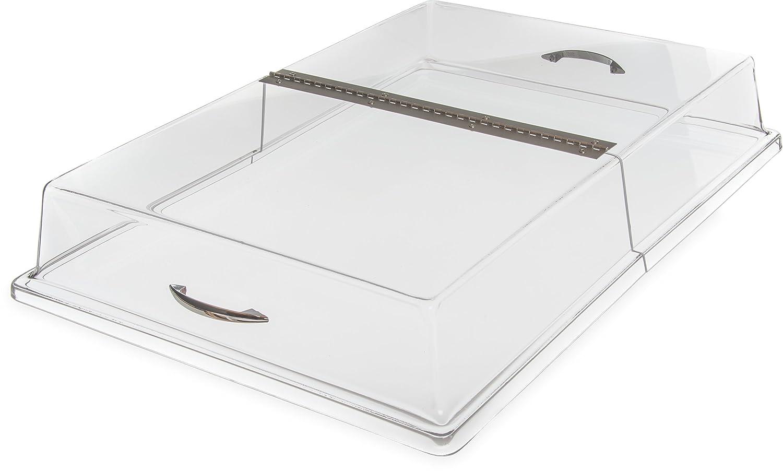 Carlisle SC2607 Acrylic Pastry Tray Hinged Cover, 26.19 x 18.20 x 4