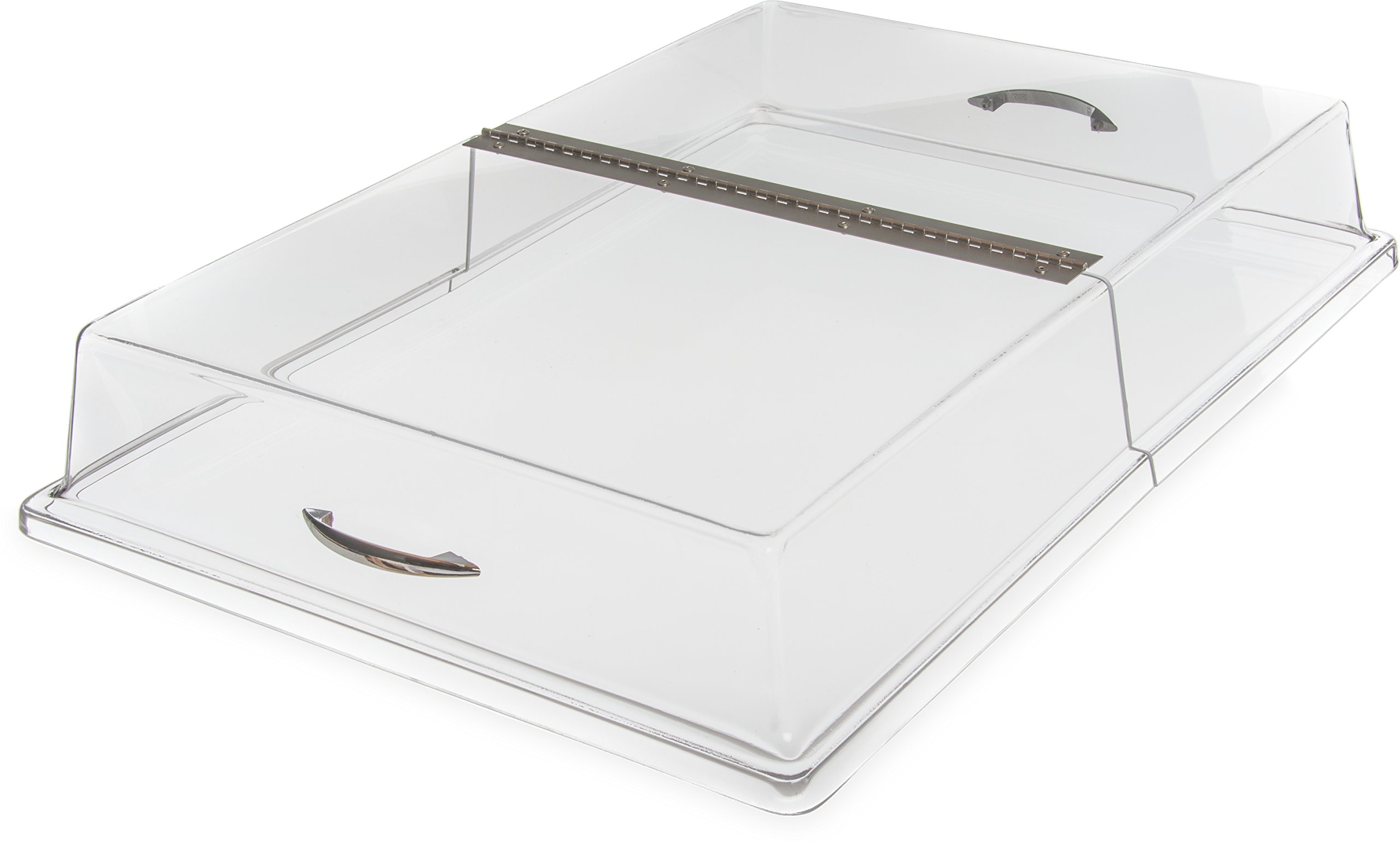 Carlisle SC2607 Acrylic Pastry Tray Hinged Cover, 26.19 x 18.20 x 4'', Clear