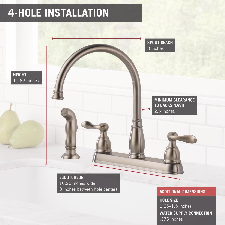 Chrome Delta Windemere 21996lf Two Handle Kitchen Faucet Faucet Handles Tools Home Improvement Urbytus Com