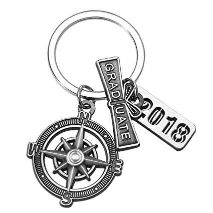 graduation keychain with scroll 2018 charm and