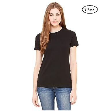 fb6c40ec6122 Unibasic Women Classic Fit Crew Neck T-Shirt 3 Colors - 3 Pack at ...