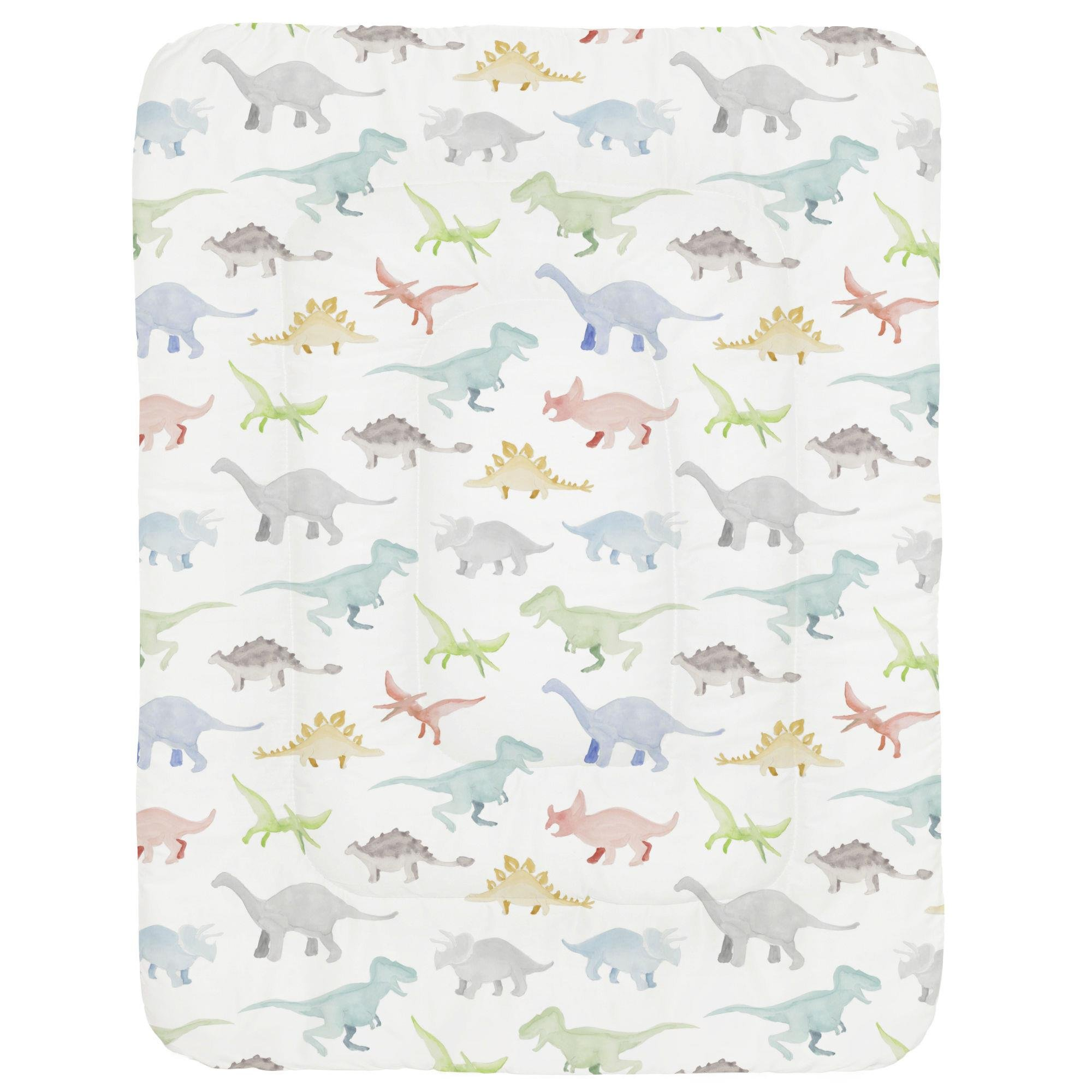 Carousel Designs Watercolor Dinosaurs Crib Comforter