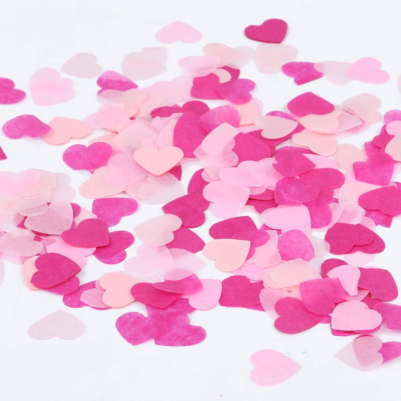 Pastel confetti Small paper heart Pastel hearts Wedding confetti Heart decor Wedding toss confetti Pastel heart confetti Pastel decor