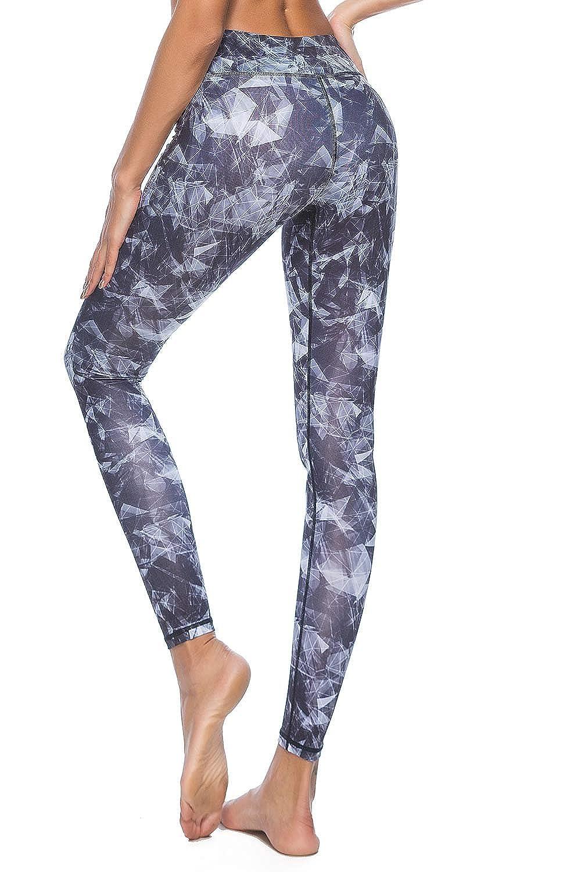 Watercolor Pattern Souteam Womens Workout Leggings High Waist Stretch Yoga Pants
