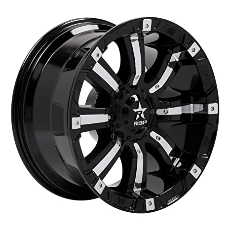 Amazon Com Rbp 94r Black With Chrome Inserts Wheel With Painted