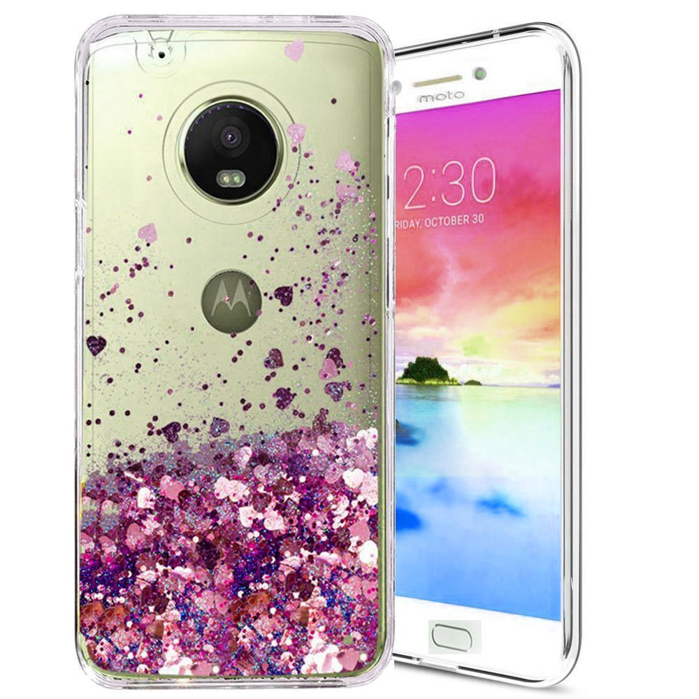 sports shoes a3393 bcc3f Details about Moto E4 Case, Skmy Liquid Glitter Sparkle Girl Women Cute  Clear TPU+Shockproof