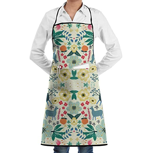 Alpaca Love Pink Delantal de cocina ajustable de colores pastel ...