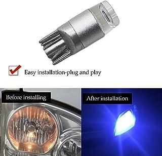 YaaGoo Compact Small bulb License Plate Lights Lamp,T10 168 194 2825 W5W,ice blue,12pcs