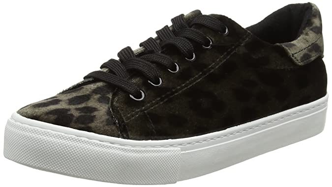 5443498, Sneakers Basses Femme - - Multicoloured (Stone-Leopard Print), 36New Look