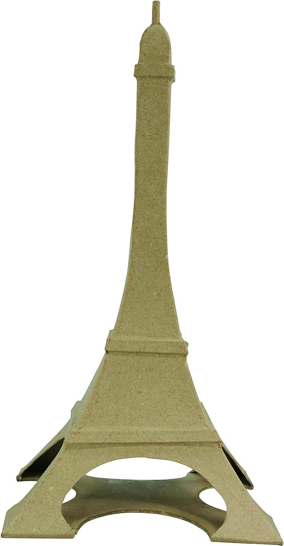 34 x 16.5 x 16.5 cm 32 cm-Brown d/écopatch Decopatch Mache Parisian Tower 17x17x32cm