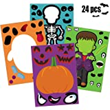 Happy Storm Halloween Party Games for Kids 24 PCS Make Your Own Jack-O-Lantern Halloween Party Activities Make a Face…