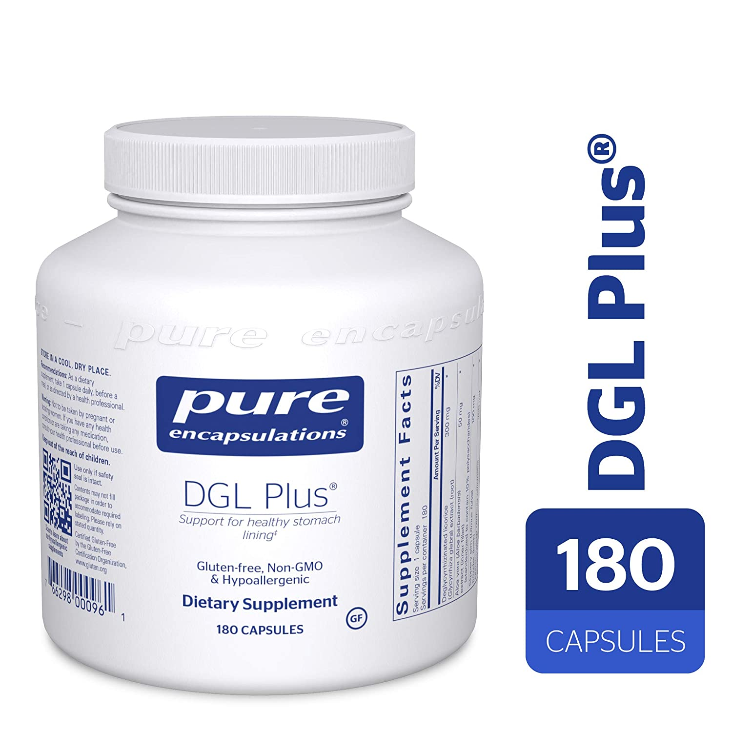 Pure Encapsulations – DGL Plus – Herbal Support for The Gastrointestinal Tract* – 180 Capsules