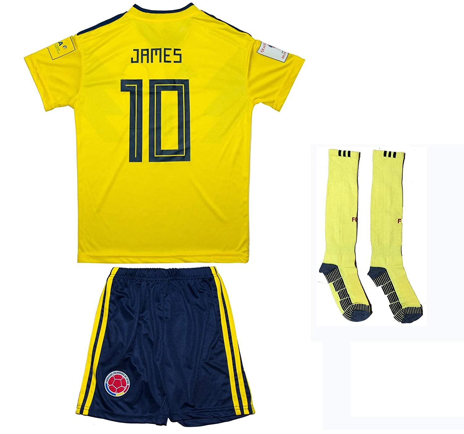 7275a7be739 ... inexpensive amazon soccer youth jersey set colombia home edition sports  outdoors c8e4f 09a72