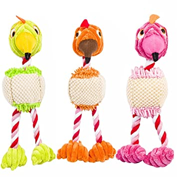 UEETEK 3PCS Animales Perros Gatos Chirriador Juguetes Pájaros Diseño Cute Morder Masticar Juguetes para Perros Gatos Entrenamiento: Amazon.es: Hogar