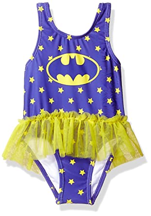 d12c9c2cd34d9 Amazon.com: Warner Bros Girls' Batgirl Swimsuit: Clothing