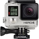 GoPro HERO4 Silver Edition Adventure - Videocámara deportiva (12 Mp, Wi-Fi, Bluetooth, sumergible hasta 40 m), (versión inglesa/francesa)