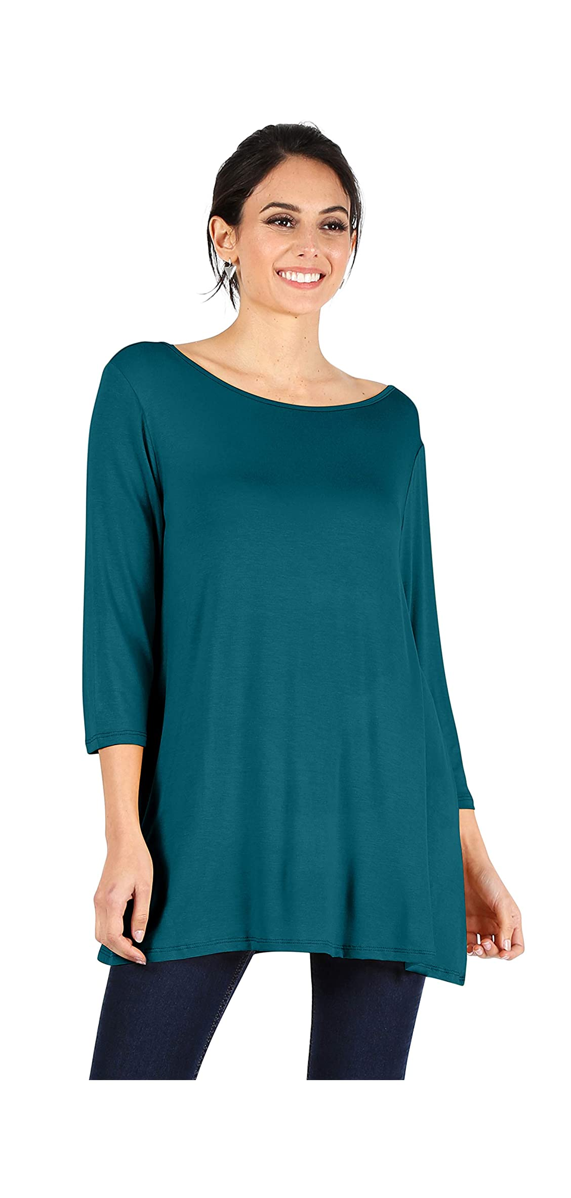 Womens Tunic Tops For Leggings Reg And Plus Size / Tunic