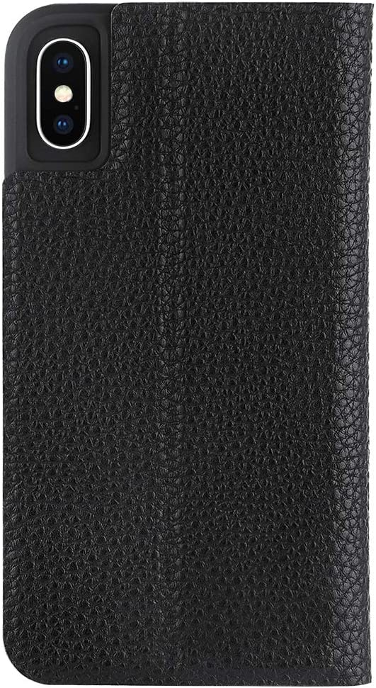 Case-Mate - Iphone XS Folio Case - Leather Wallet Folio - Iphone 5.8 - Black Leather