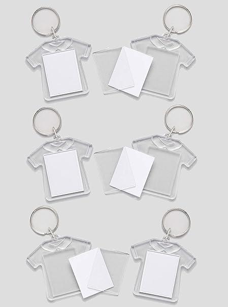Baker Ross- Kits de llaveros en forma de camiseta (Pack de 6) que los niños pueden personalizar - Manualidades creativas infantiles para el Día del Padre: Amazon.es: Hogar