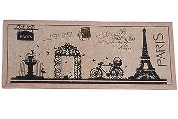 Front Entry Door Mat   Welcome Rug   Eiffel Tower In Paris   16u0026quot; ...