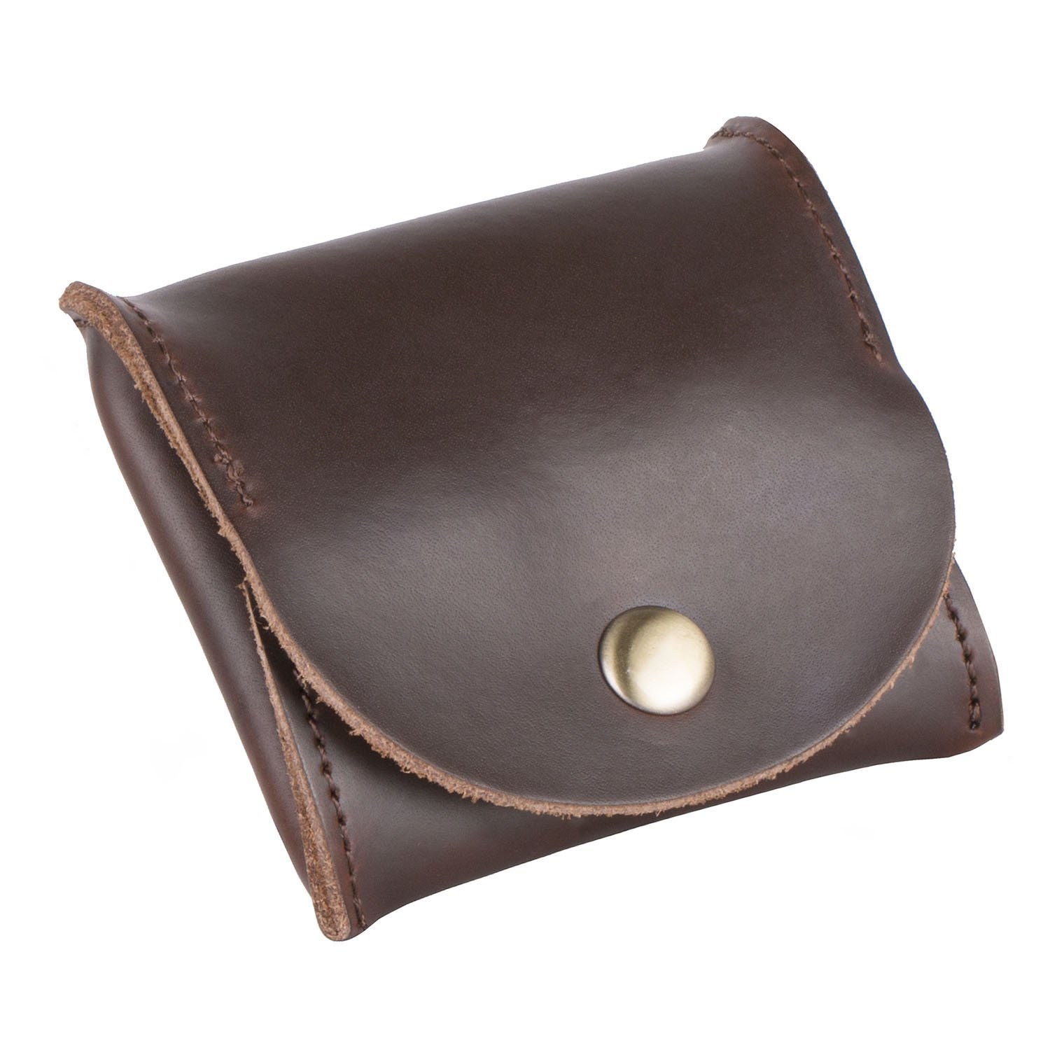 Z PLINRISE Leather Mini Coin Purse with Metal Fastener, Small Wallet, Coin Pocket, Rectangular Shape, 3.1''x2.9'', Brown by Z PLINRISE