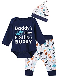 8a316d92e Amazon.com  EasonJ Cute Unisex Newborn Clothes Baby Boys Girls Fish ...