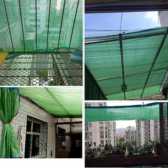 Toldos CJC Lona Transpirable De Malla De Malla Transpirable, Tela De La Sombra del Pabellón De La Pérgola, con La Carpa De La Lona De Los Ojales Multiuso (Color : Green, Size :
