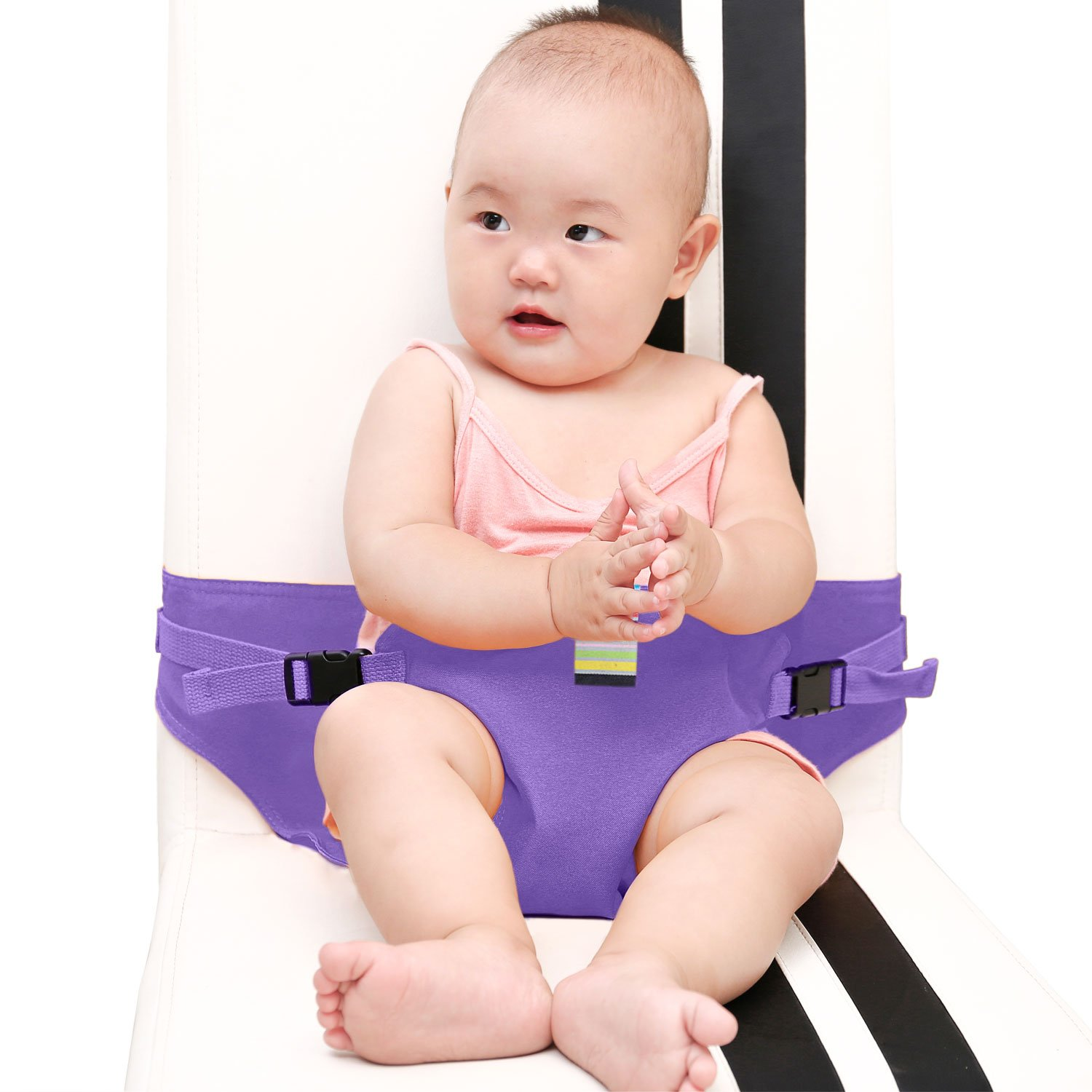 red KIKIGOAL Portable Washable Baby Travel High Chair Booster Safety Seat Strap Harness Belt for Baby Feeding