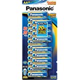 Panasonic AA, Premium Alkaline Panasonic Evolta Battery 20 pack, (LR6EG/20B)