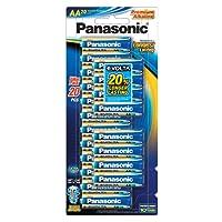 Panasonic AA, Premium Alkaline Panasonic Evolta Battery 20 pack, (LR6EG/20B)
