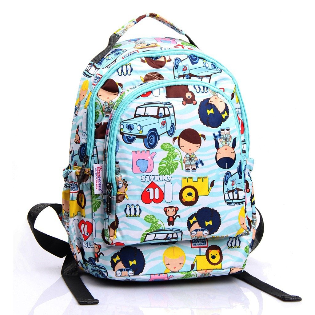 Waterproof Backpack for girls boy cute school bag bookbag designer outdoor  anti theft Daypack (Blue)  Amazon.co.uk  Clothing 3901f2ddd7bbd