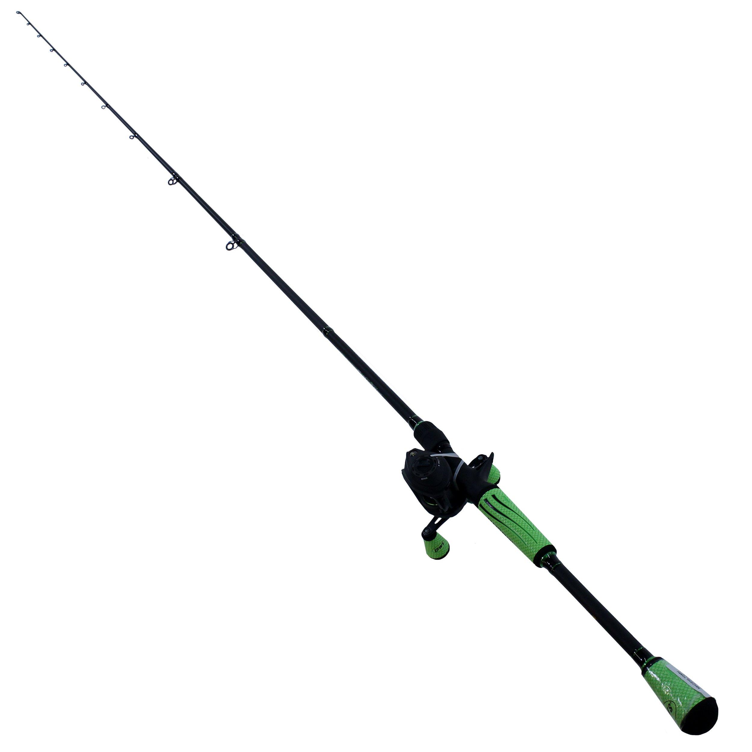 Lew's Fishing MH2SHL70MH Lews Fishing, Mach Ii Baitcast Combo, 7.5: 1 Gear Ratio, 7' Length, 1pc Rod, Medium/Heavy Power, Left Hand by Lew's Fishing
