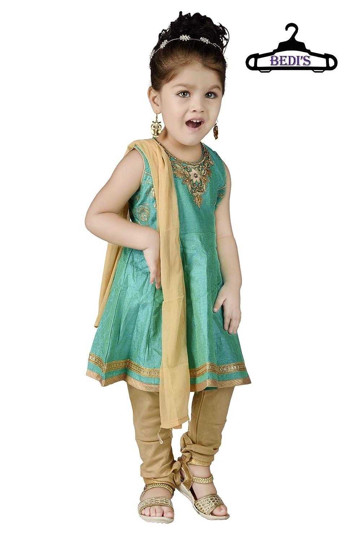 50c6720e280b ... Indian Style European Sizes New Born Infant Salwar Anarkali Churidar  Maxi Legging Dress Wedding Prom Party WEAR TOP Shirt+Leggings-Emerald Green  & Gold
