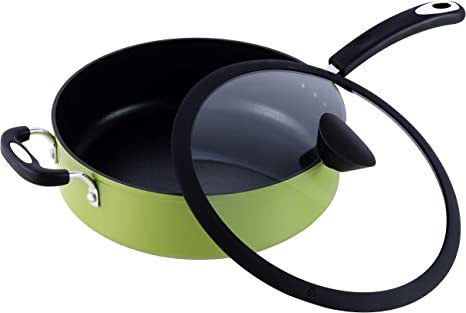 Ozeri The Green Earth All In One Sauce Pan With Ceramic Non Stick Coating From Germany 100 Pfoa Apeo Free Amazon Co Uk Kitchen Home