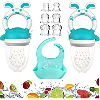 Food, Fresh Food - 2 Pack Blue Fruit Pacifier, 6 Silicone Pacifiers | Silicone Bibs for Babies & Toddlers | Silicone…