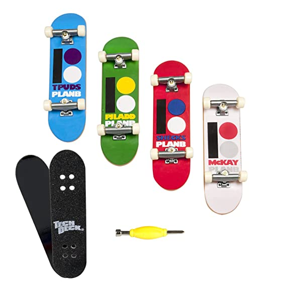 Tech Deck - Pack de 4 monopatines en Miniatura (Surtido de 4 Unidades: Modelos Varian)