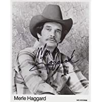 Merle Haggard Signed Autographed Glossy 8x10 Photo - COA Matching Holograms