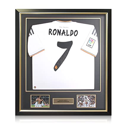 lowest price 61c63 ae3b6 Framed Cristiano Ronaldo Signed Real Madrid Soccer Jersey at ...