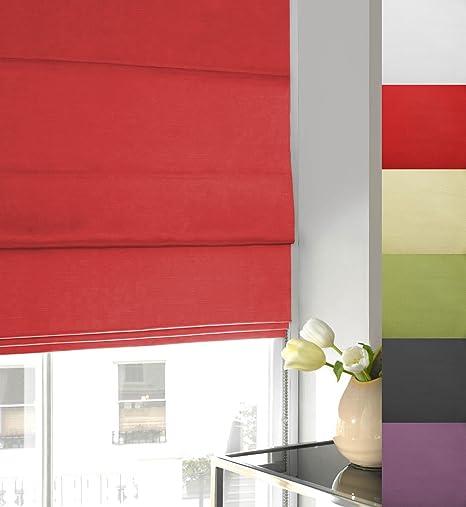 Twill Roman Blind Red 180cm X 135cm Amazon Co Uk Kitchen Home