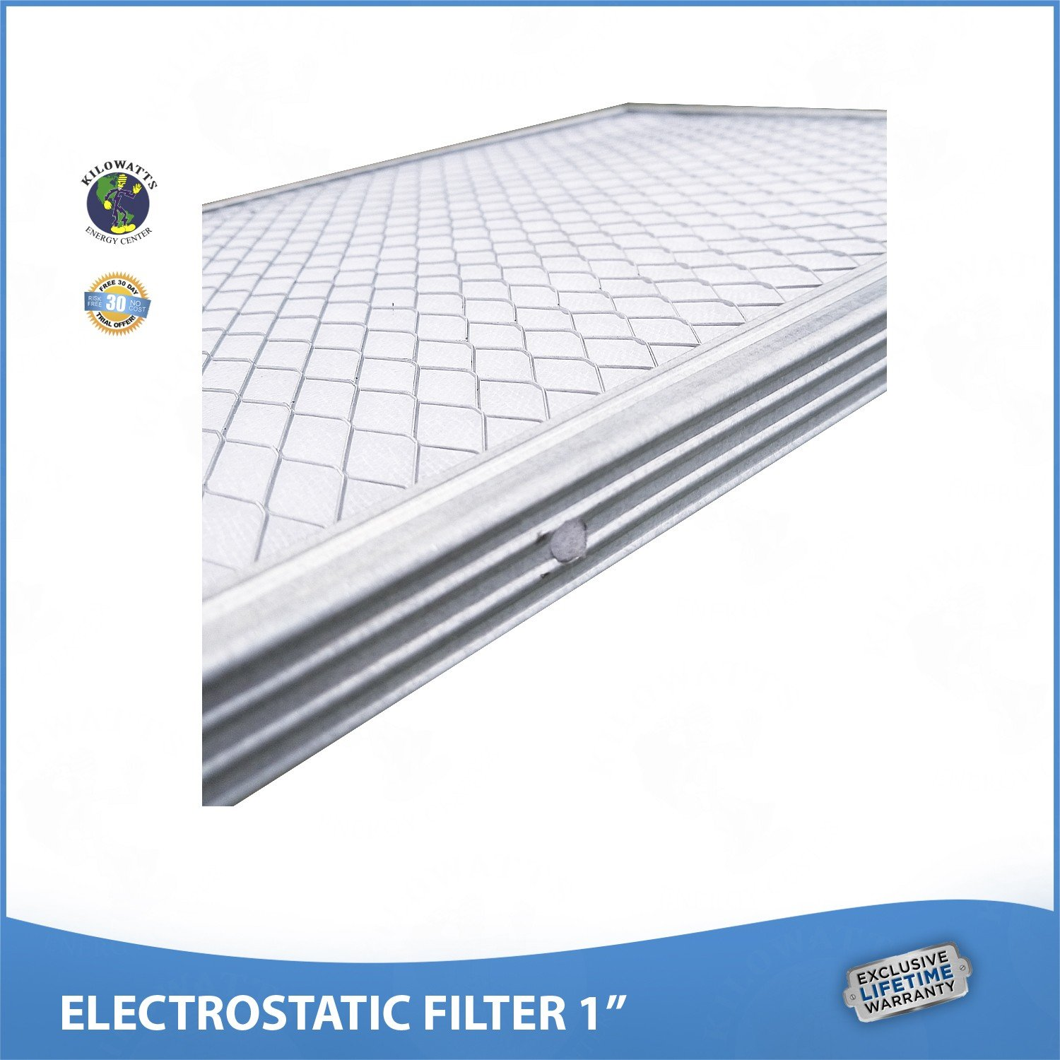 20x25x1 Lifetime Air Filter - Electrostatic Washable Permanent A/C Furnace Air Filter. by Kilowatts Energy Center (Image #3)