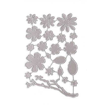 Gosear Acero al Carbono y Flor en Relieve Plantillas de Plantillas de Troqueles de Corte Molde