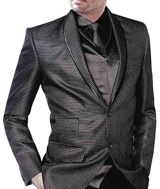 INMONARCH Diseñador de boda 5 Pc traje negro esmoquin TX0112 ...