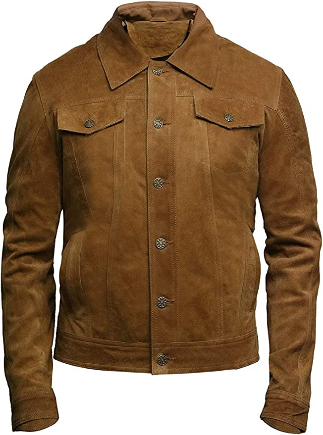 60s 70s Men's Jackets & Sweaters Brandslock Mens Genuine Leather Biker Jacket Vintage Shirt Style $149.99 AT vintagedancer.com