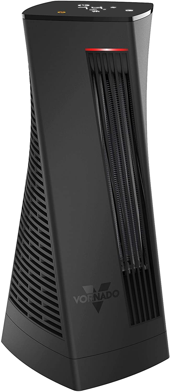 Vornado OSCTH1 Oscillating Electric Tower Space Heater for Home and Office with Built-in Timer, Adjustable Thermostat, Digital Display, Advanced Safety Features, Black