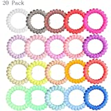 Generic Hair Ties Ponytail Holders Large Boutique Girls Stretchy Elastic Hair Ropes Bands Styling Accessories Pack of 20
