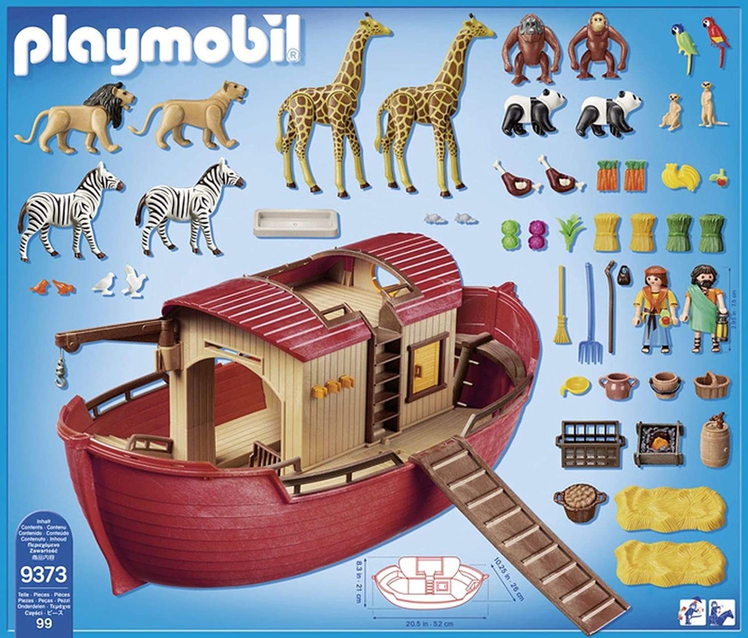 Playmobil 9373 Wild Life Floating Noahs Ark with Functioning Crane