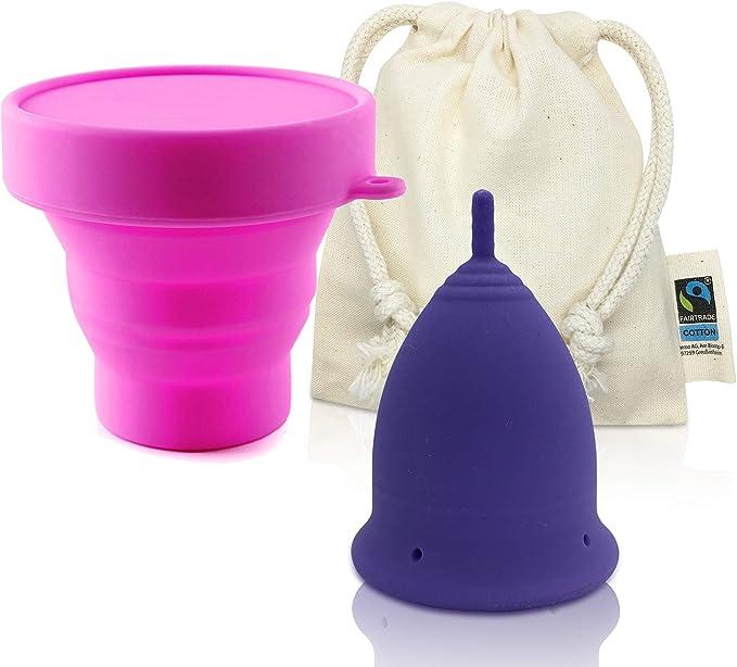 Copa Menstrual CozyCup CLASSIC - Hecha de Silicona de Grado Médico (lila, grande)