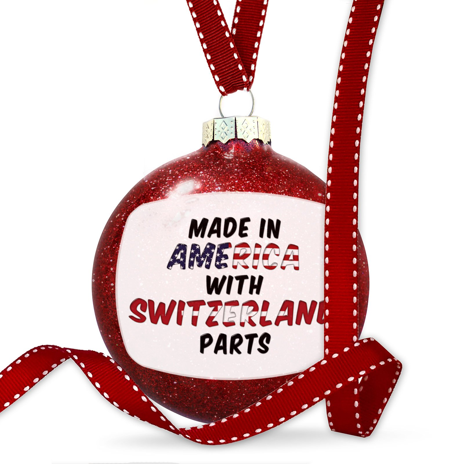 Christmas Decoration Made in America with Parts from Switzerland Ornament