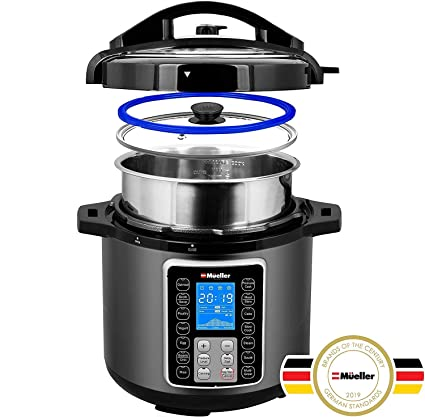 580e35ec9a10 Mueller UltraPot 6Q Pressure Cooker Instant Crock 10 in 1 Pot with German  ThermaV Tech,